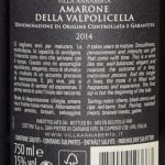 Villa Annaberta Amarone della Valpolicella 2014 - Etiket bagside