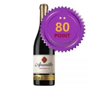 Apanillo Tempranillo 2016 - Jeg giver 80 point
