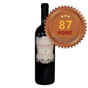Le Arche Valpolicella Ripasso 2015 får 87 point